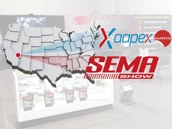 Bartec Exhibit their Award Winning TPMS Tools at the 2018 SEMA and AAPEX