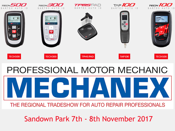Bartec Auto ID At Stand 22 During Mechanex Sandown Park