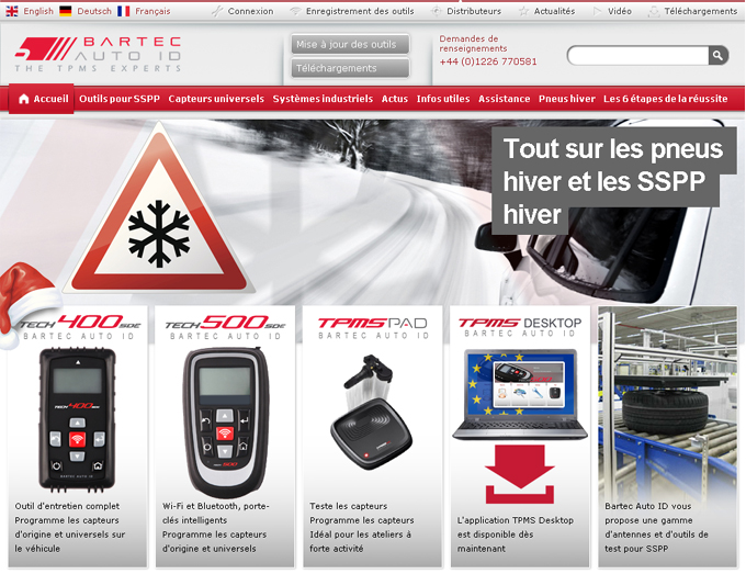 Vive la France: Bartec's website is now online in French!
