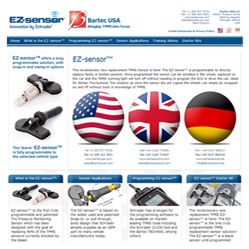 August 2012 - New EZ-sensor® Website Launched - Reprogammable TPMS