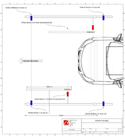Production Line Layout for TPMS Test Antennas