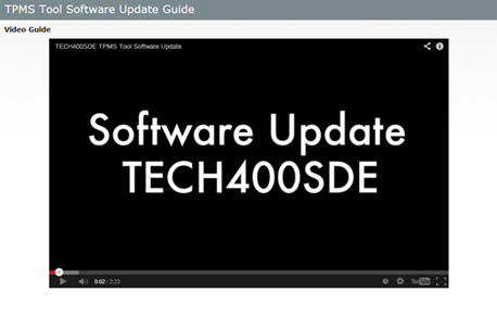 TECH400SDE Software Updates Made Easier