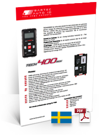 TECH400SDE Data Sheet Swedish