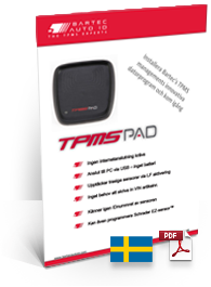 TPMS PAD Data Sheet Swedish