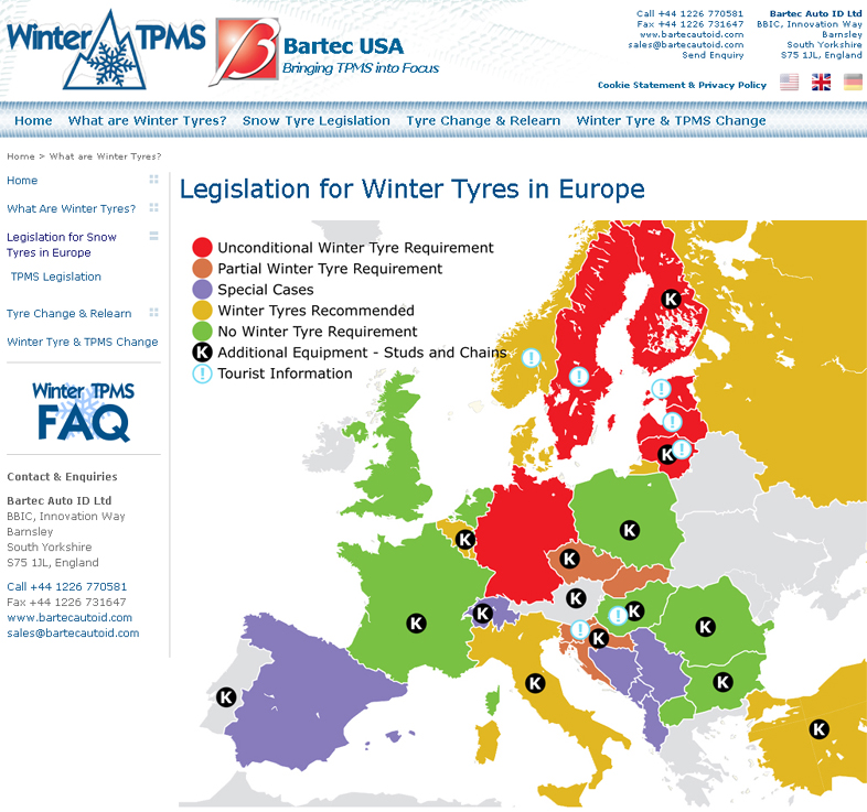 February 2013 Winter TPMS & Winter Tyres Review